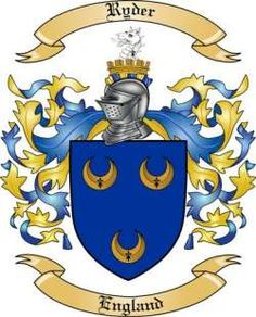 Ryder Family Coat of Arms from England