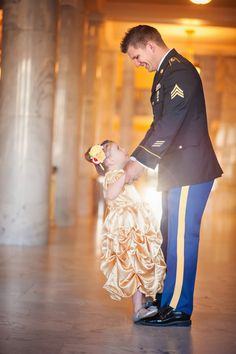 Army dad takes daughter to a military ball before he's deployed  |  The Frosted Petticoat