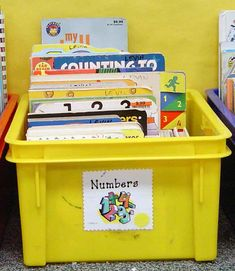 Book box containing number books...math center or library center.