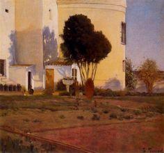 Huerto del Vinyet, 1892 - Santiago Rusinol. Impresionismo