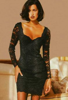 vintage look, black outfit 90s Fashion, Runway Fashion, Vintage Fashion, Fashion Outfits, Womens Fashion, Couture Fashion, Fashion Trends, Sexy Dresses, Nice Dresses