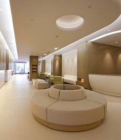 Interior of future clinic PORTFOLIO - American Sino Hospital Audong Clinic - Robarts Interiors and Architecture Clinic Interior Design, Clinic Design, Medical Office Design, Healthcare Design, Commercial Design, Commercial Interiors, Residence Senior, Lobby Design, Design Design