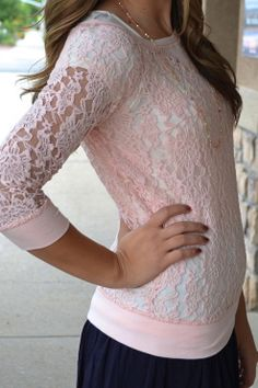 Lace Soft Pink Top ... I definitely need one ...
