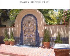 Biltmore Hotel, Santa Barbara, CA.  Custom tile by Malibu Ceramic Works.