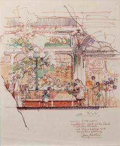 World Bazaar, Tokyo Disneyland - Herb Ryman
