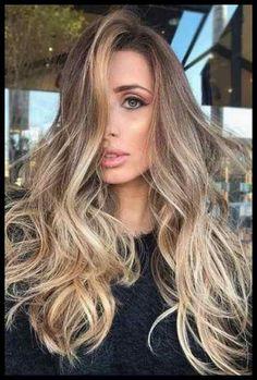 Fantastische Balayage #Frisuren 2018 Frauen Fantastische Balayage ...   Frisuren Tutorials Ombre Hair, Hair Color Balayage, Hair Highlights, Caramel Highlights, Blonde Balayage, Baliage Hair, Hair Color 2017, Hair Colors, Hair Color Techniques