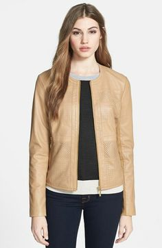 Bernardo Perforated Leather Jacket (Regular & Petite) available at #Nordstrom