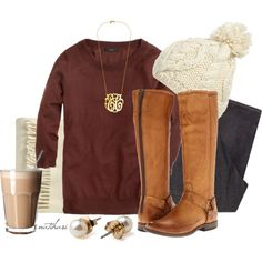 """""""Comfy Winter Preppy School Outfit"""" by natihasi on Polyvore<<< minus the necklace :)"""