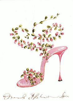 2003 Manolo Blahnik Sketchbook Illustrations, Shoe Couture,