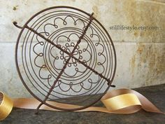 display trivets | Wire Trivet Decorative Design Cooling Rack by stilllifestyle, $30.00