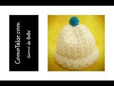 Como Telar un Gorro de Bebé - Fácil en telar redondo / circular  - Loom Knit Baby Hat in Spanish