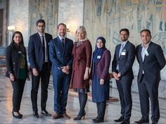 """Crown Prince Haakon and Crown Princess Mette Marit of Norway attended a conference at Oslo Municipality which is held under the topic of """"New Generation"""" and which addresses cross-cultural background and executive abilities on April 28, 2016."""