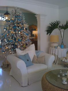 Our beachhouse coastal christmas tree south florida style ... find us on Facebook www.facebook.com/beachhouseetcbysuzannepignato