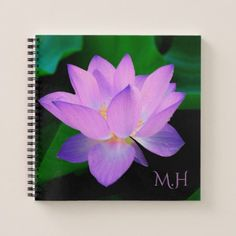 Lilac Lotus Flower Notebook - photo gifts cyo photos personalize