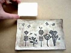 Ring Dish Pottery Soap Dish Handmade Bees by YviBJonesCeramics