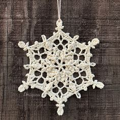 The free version of this pattern is available on my linked blog- Crochet Snowflake Pattern, Crochet Snowflakes, Crochet Motif, Crochet Doilies, Free Crochet, Crochet Christmas Ornaments, Christmas Crochet Patterns, Holiday Crochet, Christmas Angels
