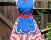 retro apron SNOW WHITE inspired retro APRON womens full costume aprons. $28.50, via Etsy.