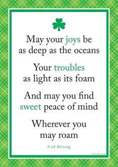Irish blessing - Happy St Patrick's Day!