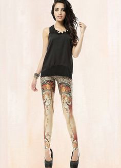 Super cool painting tights, printed leggings Halloween Girls Chinese by Legging, $21.06