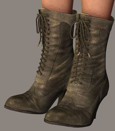 WIP 2 Victorian Boots by *LadyLittlefox