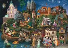 Are you looking for Fantasy Art Jigsaw Puzzles? you'll find plenty of Jigsaw Puzzles from the art work of well-known fantasy artists from around the world. If you love fantasy art you are going to love these Fantasy Jigsaw Puzzles! Fairy Tale Theme, Fairy Tales, Fairy Land, Cross Stitch Kits, Cross Stitch Patterns, Stitching Patterns, Cross Stitching, Fairy Tale Activities, Earth Design