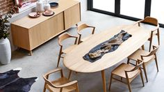 Bianca Oval Dining Table | Domayne
