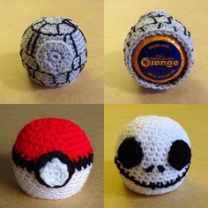 Novelty Chocolate Orange Covers, inspired by Star Wars, Pokemon, Nightmare before Christmas. Hand crocheted stocking filler or Secret Santa.