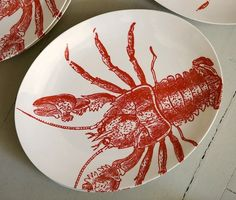 `cute lobster plates for rolls