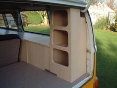 The camper shak hand crafted vw camper interiors vosvossevdasi vwtattoogalery vosvos vw volkswagen like likeforlike aircooled watercooled vanlife karavan bus buslife Kombi Trailer, Vw Caravan, Camper Trailers, Travel Trailers, T4 Camper Interior Ideas, Campervan Interior, Campervan Bed, Campervan Ideas, Vw T3 Syncro