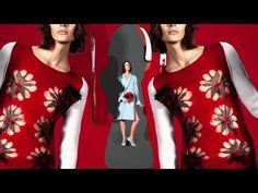 Animation - Sonia Rykiel Fall Winter 2013 Campaign - YouTube - Graphic sort of has continuous camera moving forward a la white stripes. Mixed media.