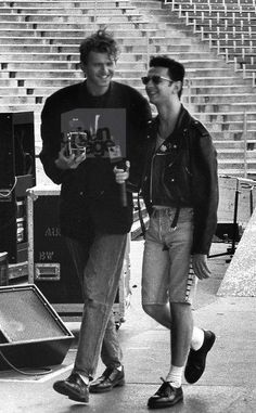 Dave Gahan with Anton Corbijn.