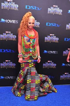 South Africans were counting down the days until Marvel's Pan-African-inspired blockbuster hit our cinemas, and, this past weekend, the stars finally descended on Monte Casino for the local premiere of 'Black Panther'. Black Panther, Peplum Dress, African, Album, Lifestyle, Stars, Beauty, Dresses, Fashion