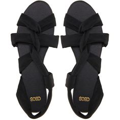 ASOS FANTASY Flat Sandals ($25) ❤ liked on Polyvore