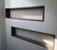 top best recessed wall niche ideas interior nook designs design idea inspiration with wood trim edge decorating Recessed Shelves, Wall Shelves, Wall Niches, Niche Design, Wall Design, Niche Decor, Wall Decor, Niche Living, Wall Nook