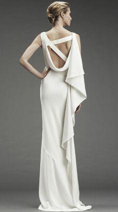 Grecian drape gown #Greek #wedding #dress