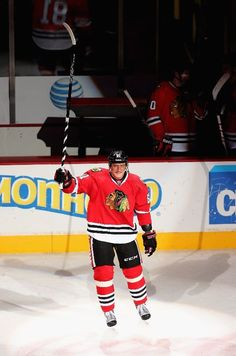 CHICAGO, IL - MARCH 05: Marian Hossa #81 of the Chicago Blackhawks was named the number three star of the game against the Minnesota Wild at the United Center on March 5, 2013 in Chicago, Illinois. The Blackhawks defeated the Wild 5-3. (Photo by Jonathan Daniel/Getty Images)