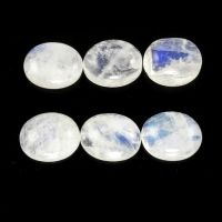 RAINBOW MOONSTONE CABS OVAL 10X8MM APPROXIMATELY 15 CARAT