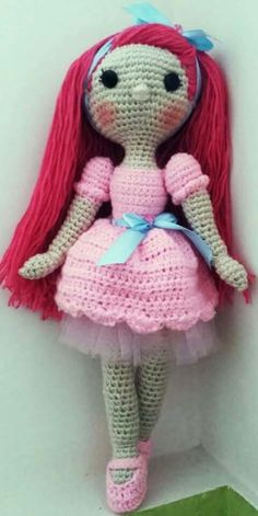 Muñeca amigurumi Beautiful Crochet, Crochet Dolls, Harajuku, Style, Fashion, Amigurumi Doll, Do It Yourself, Puppets, Cute Crochet