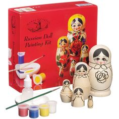 37257485f7b6 House of Crafts Russian Doll Painting Kit at John Lewis & Partners