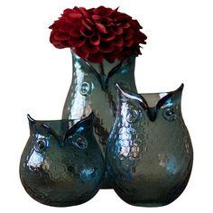 Owl Vases.  Whooooooooo
