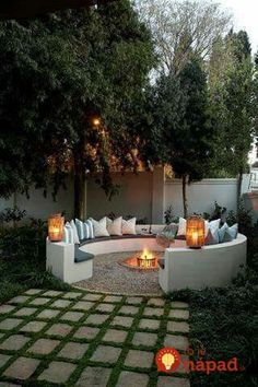 Did you want make backyard looks awesome with patio? e can use the patio to relax with family other than in the family room. Here we present 40 cool Patio Backyard ideas for you. Hope you inspiring & enjoy it . Backyard Patio, Backyard Landscaping, Landscaping Ideas, Backyard Seating, Sloped Backyard, Garden Seating, Outdoor Seating, Cool Backyard Ideas, Inexpensive Landscaping