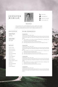 creative resume template - modern resume template - resume template word - resume picture template Creative Cv Template, Modern Resume Template, Layout Template, Resume Layout, Resume Cv, Microsoft Word 2007, Cover Letter Template, Cv Format, Resume Format
