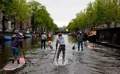 SUP'ing in the Netherlands.