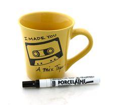 Mix tape DIY Custom Mug  personalized custom gift by LennyMud, $20.00