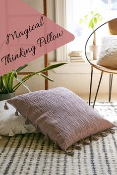Magical Thinking Hudson oversized tasseled pillow. I need this for my meditation room ASAP. #pillow #ad