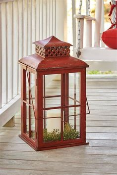 """Great for indoor or outdoor use. Dimensions:32.5""""H x 13""""Sq Material:Iron & Glass"""