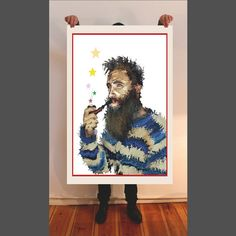 Hip Star, fine art print, painting, giclee, portrait, Hahnemühle paper, mixed artwork, acrylic, watercolor, oil painting, surrealism, magic