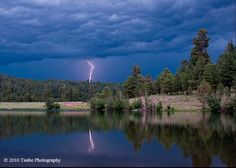 Hawley Lake in AZ lightening storms there are crazy but beautiful I love it there