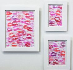 Lipstick wall art--how cute!