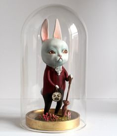Image of The White Rabbit and the Momeraths - original sculpture by Mab Graves